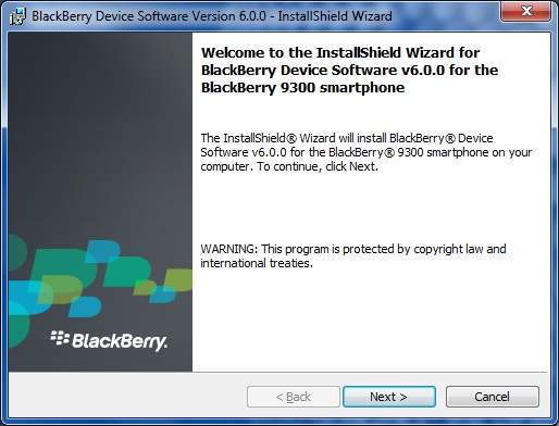 Upgrade Blackberry Curve 9300 to OS 6.0