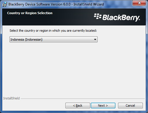 Upgrade Blackberry Curve 9300 to OS 6.0 step 2