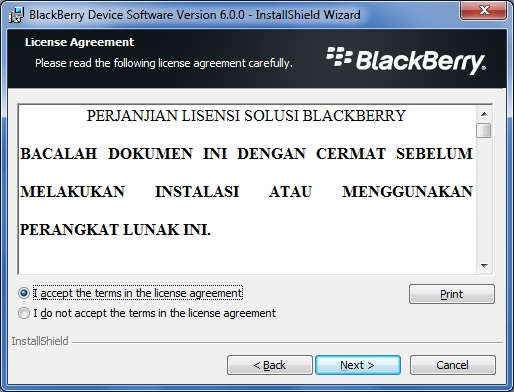 Upgrade Blackberry Curve 9300 to OS 6.0 step 4