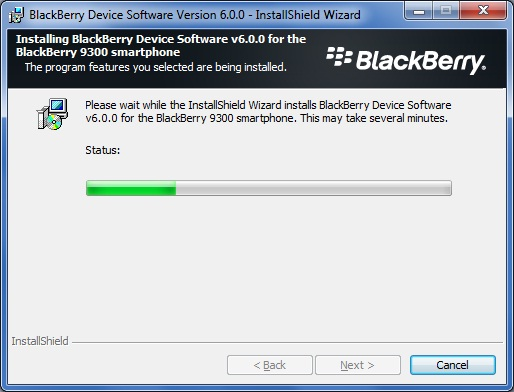 Upgrade Blackberry Curve 9300 to OS 6.0 step 5