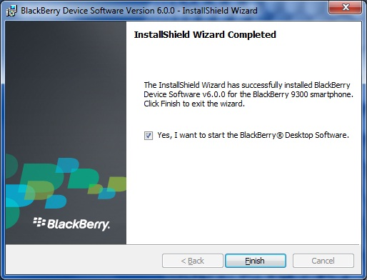 Upgrade Blackberry Curve 9300 to OS 6.0 step 6