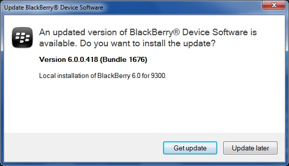 Upgrade Blackberry Curve 9300 to OS 6.0 step 7