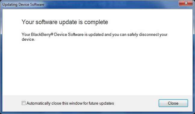 Upgrade Blackberry Curve 9300 to OS 6.0 step 10