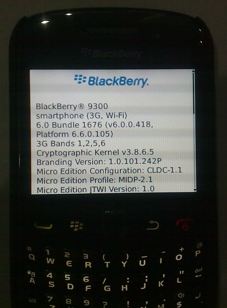 Upgrade Blackberry Curve 9300 with OS 6.0
