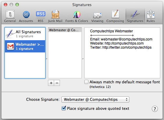 how to create signature on mac word