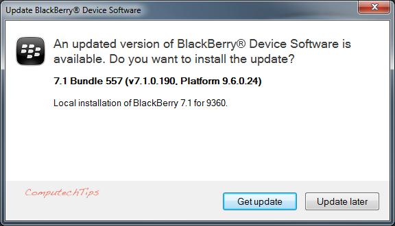 line  for blackberry 9860 software