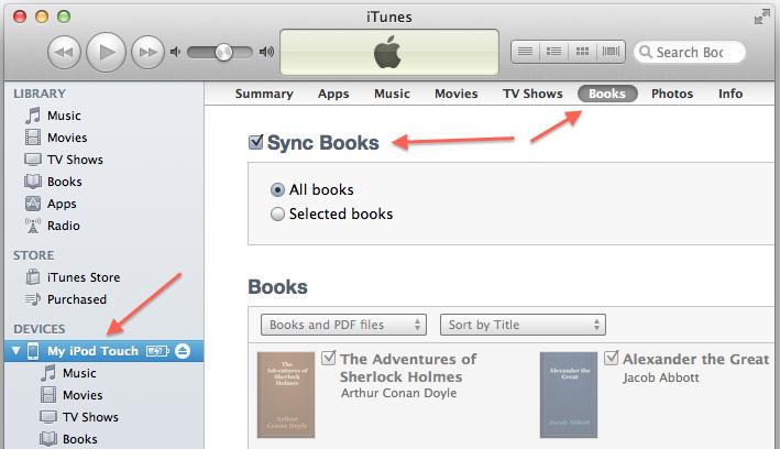 iTunes sync