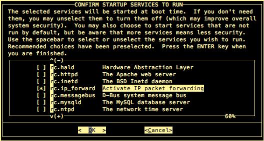 Slackware startup services