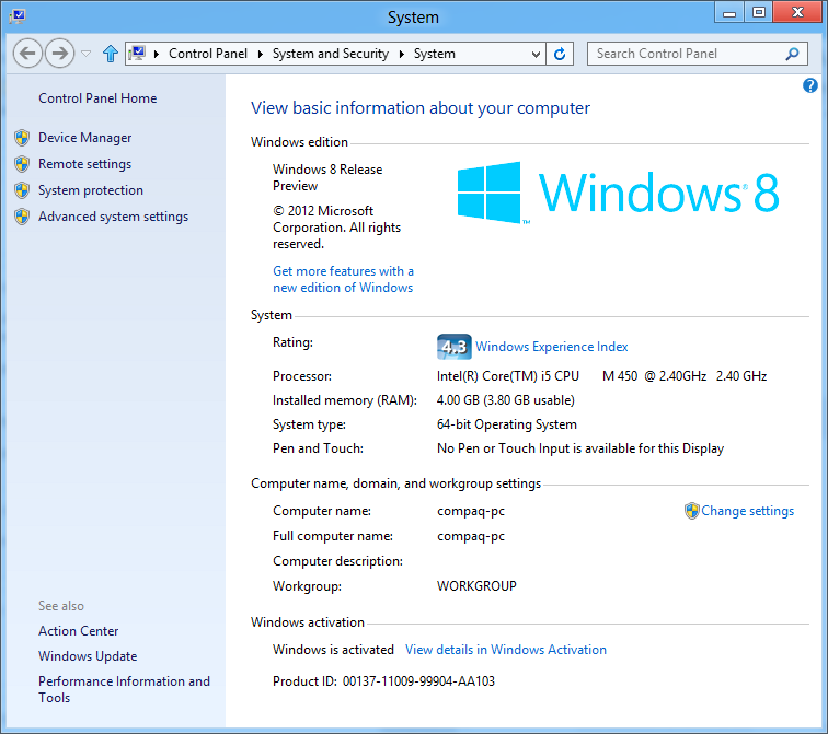 Windows 8 on my Compaq Presario CQ42 – Techonia