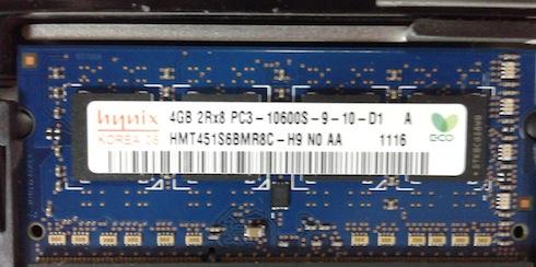 Hynix RAM model is (2x4) GB of HMT451S6BMR8C-H9