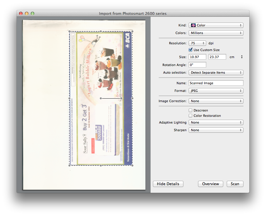 Scan Documents on OS X