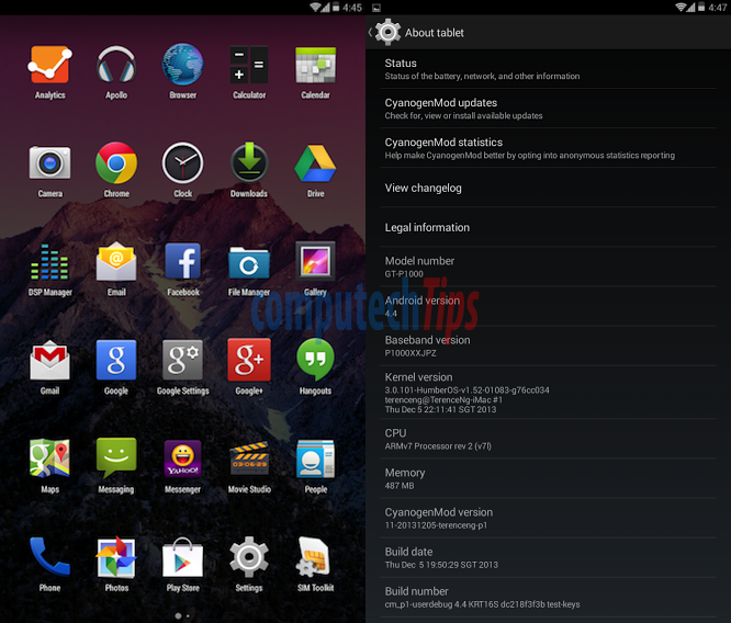 Update Galaxy Tab P1000 to Android 4 4 Kitkat – Techonia