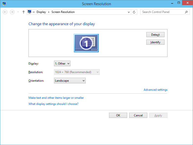 Windows 10 default screen resolution compaq presario cq42