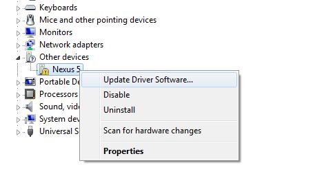 Install Nexus 5 USB Driver