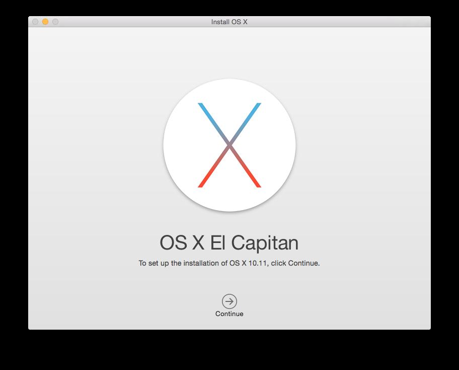 Install OS X El Capitan