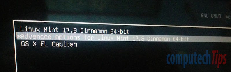 Linux Mint custom grub menu