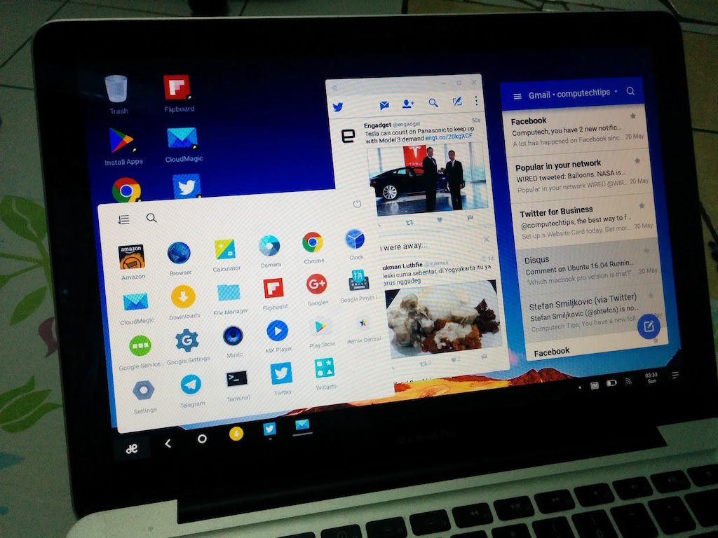 RemixOS on MacBook Pro