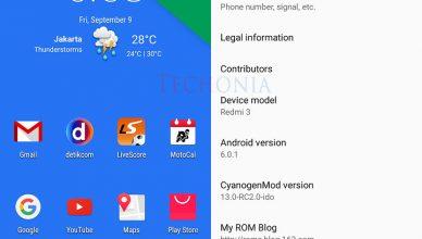 Xiaomi Redmi 3 Running CyanogenMod 13