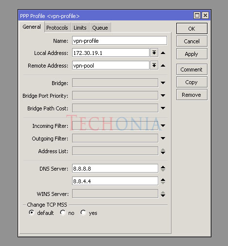 How to configure Mikrotik L2TP Server over IPSec – Techonia